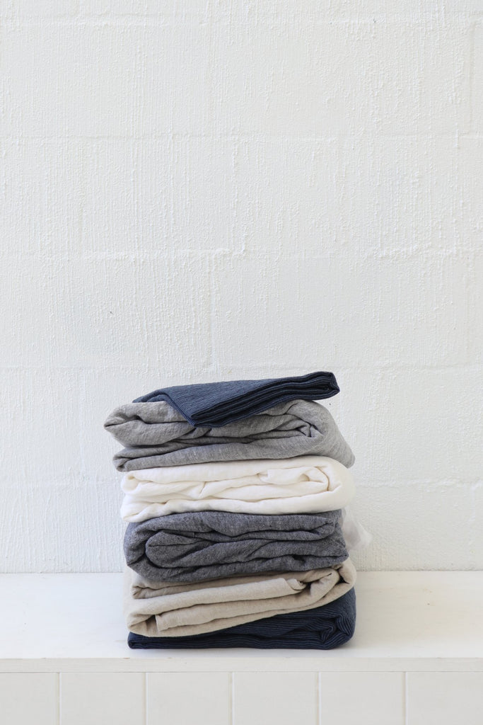 Major Minor Fitted Sheet - Slate