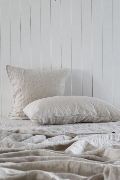 Major Minor European Linen Australian Made Quilt Cover - Flax