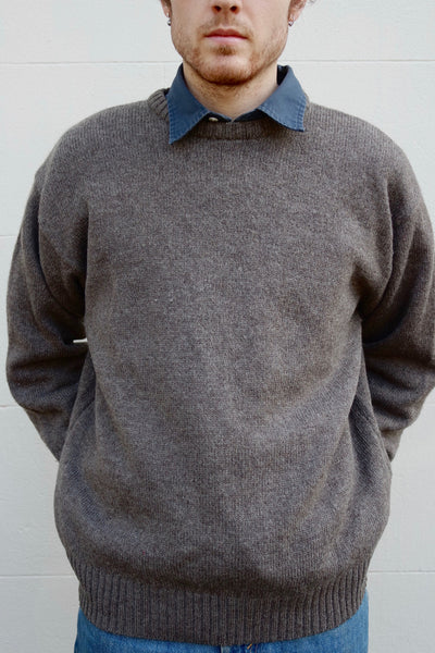 Kitly Collected Heathered Brown Crewneck