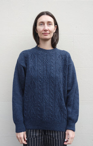 Kitly Collected Heathered Blue Crewneck Jumper