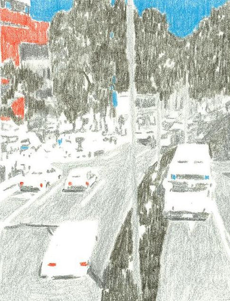 Hiroko, Shimanuki, Untitled (traffic), 10.5x14cm, color pencil on paper