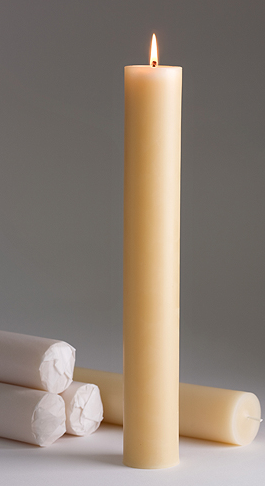 Northern Light Beeswax Fire Knight Candle