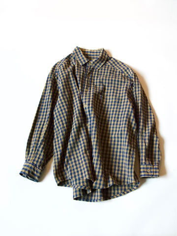 ReWork Mustard/Blue Check Shirt