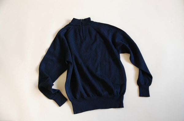 Kitly Collected Navy Mock Turtleneck Jumper