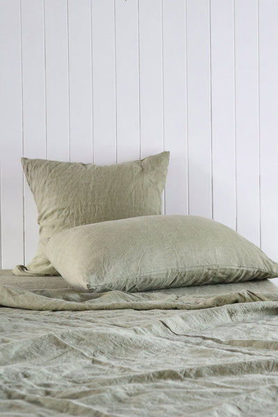 Major Minor Australian Made Pillowcase Set - Olive
