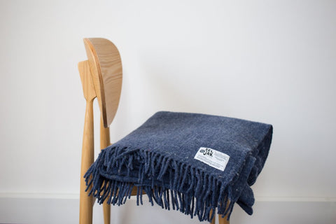 Seljak Recycled Wool Blanket - Indigo
