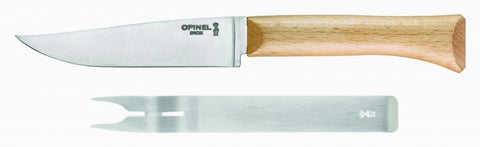 Opinel Cheese Knife and Fork Set