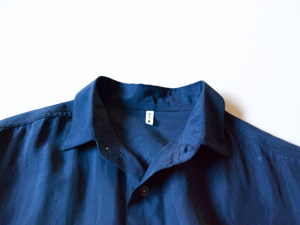 ReWork silk shirt with hand stitching