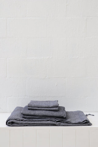 Major Minor European Linen Australian Made Flat Sheet - Slate