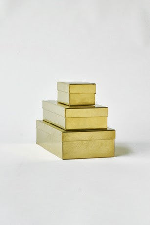 Rectangular box - Brass L