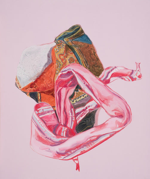 Jess Lucas, Two Scarves, 2011, 60 x 50cm oil on board