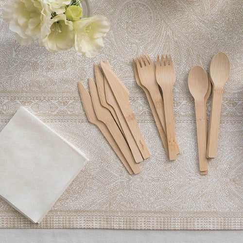 bambu Veneerware Knife, Fork & Spoon Set of 24