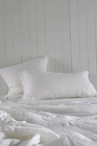 Major Minor Australian Made Pillowcase Set - True white