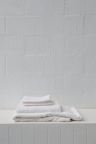 Major Minor European Linen Australian Made Quilt Cover - True White