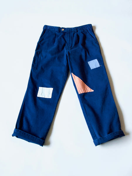 ReWork work pant with hand stitching