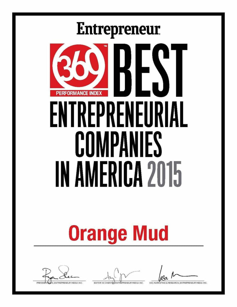 Orange Mud Named - Best Entrepreneurial Companies in America, 2015 by Entrepreneur Magazine