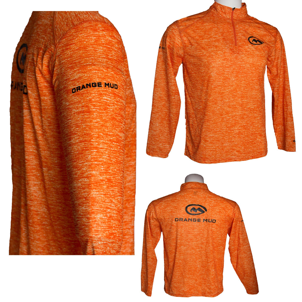 Running Performance Shirt 1/4 Zip Orange - Accessories