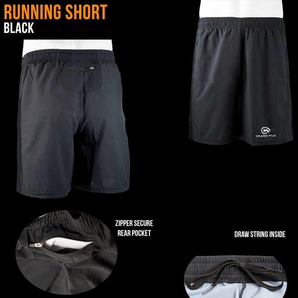 All Black Running Short, 3 different length options