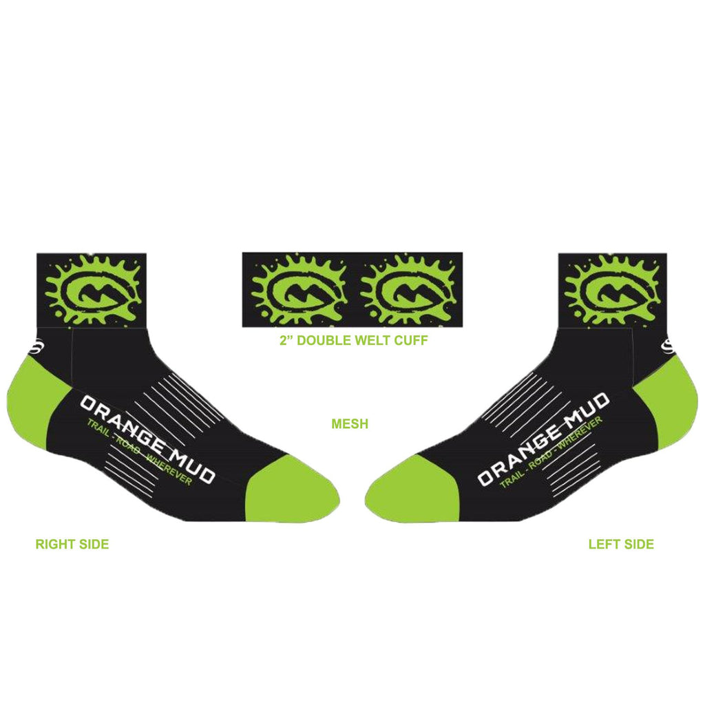 Adventure Sock - 2 Coolmax Sock - S / Lime Green - Accessories