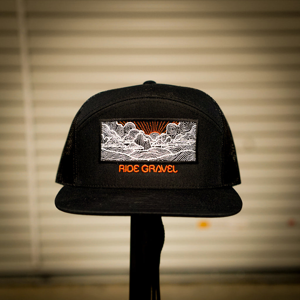 Ride Gravel 7 Panel Flatbill Snapback
