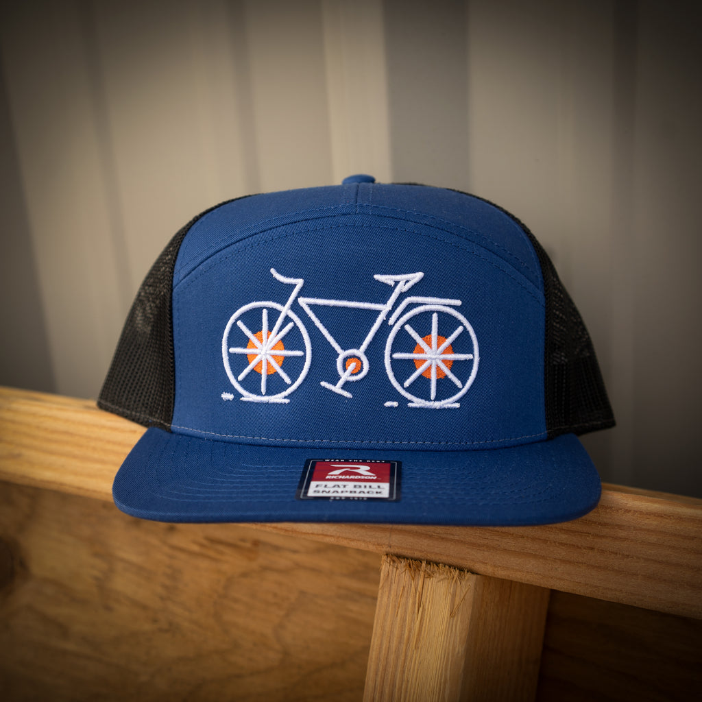 Cycling 7 Panel Flatbill Snapback