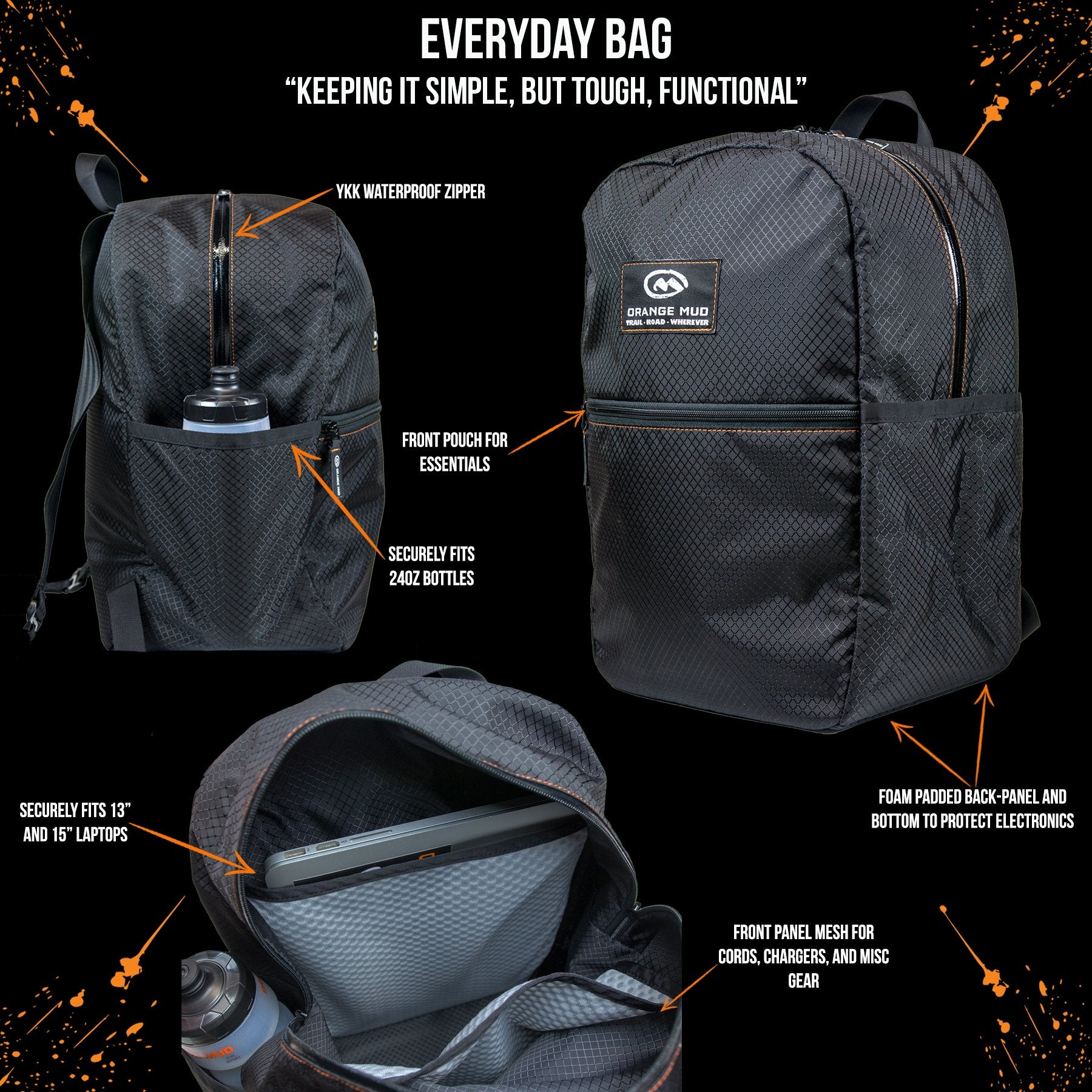 Everyday Bag - Orange Mud
