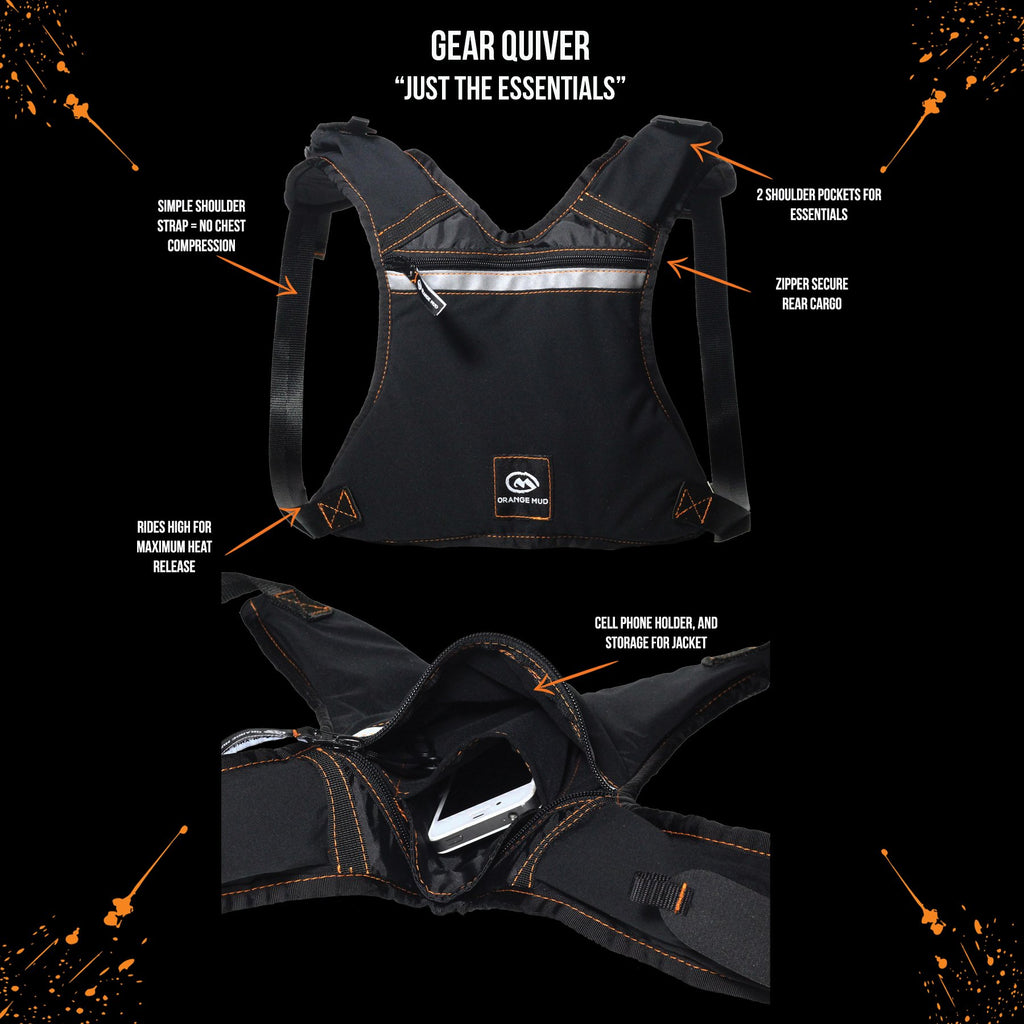 Gear Quiver fits normal size and plus size phones plus nutrition. - Hydration