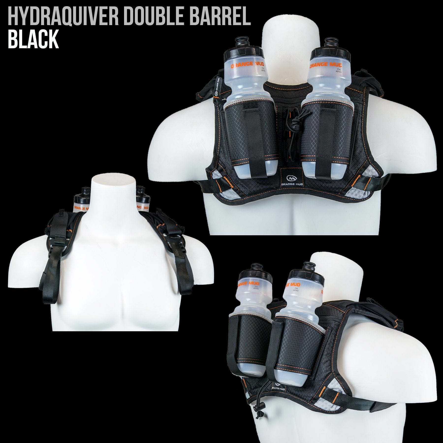 8e99b4a6c6 HydraQuiver Double Barrel Hydration Pack: Ideal for runners with larger  chest diameters and for runs greater than 2 hours.