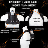 HydraQuiver Single Barrel Running Water Hydration Pack