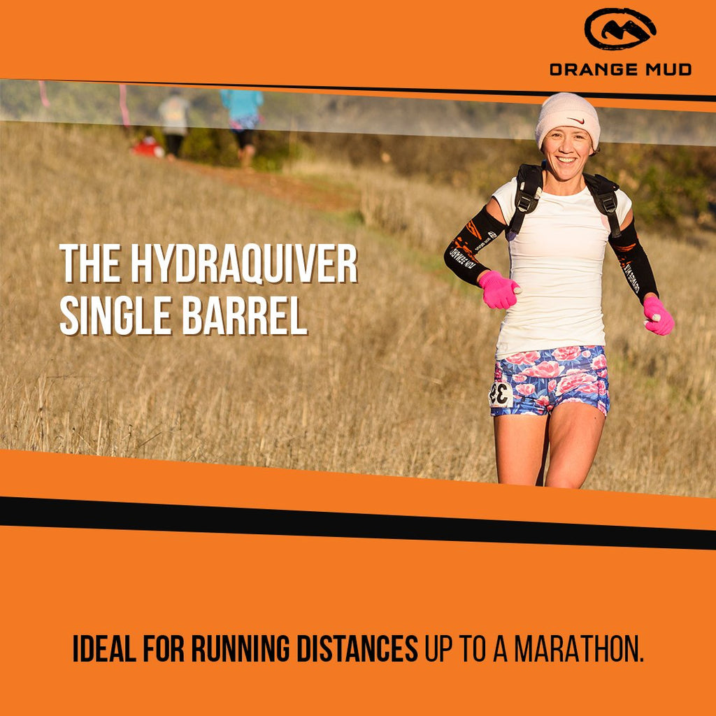 The HydraQuiver Single Barrel: Ideal running distances up to a marathon. - Packs
