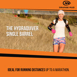 The HydraQuiver Single Barrel: Ideal running distances up to a marathon.