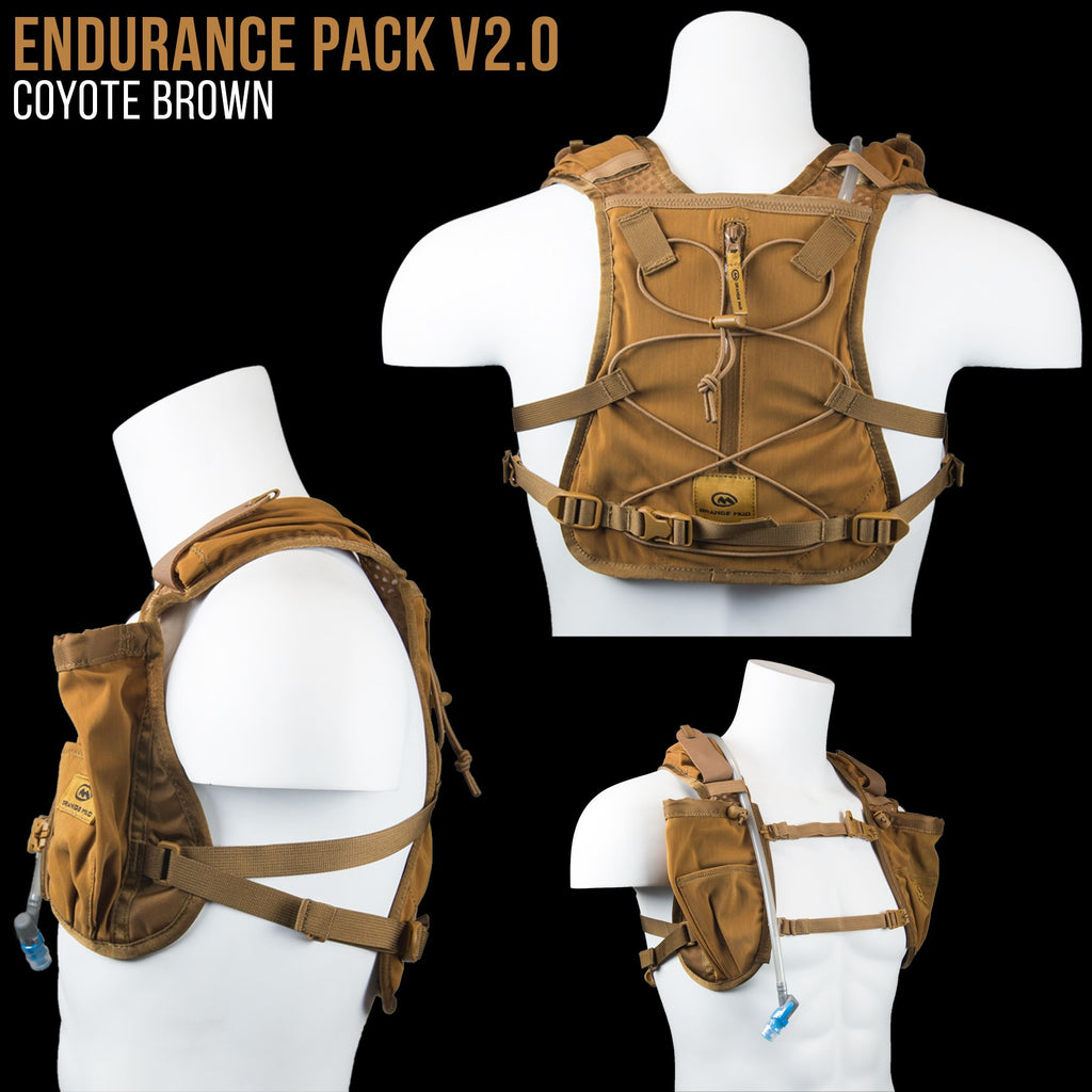 Endurance Pack 4L - V2.0 (2L bladder 4L cargo): Ideal for running and biking - Hydration