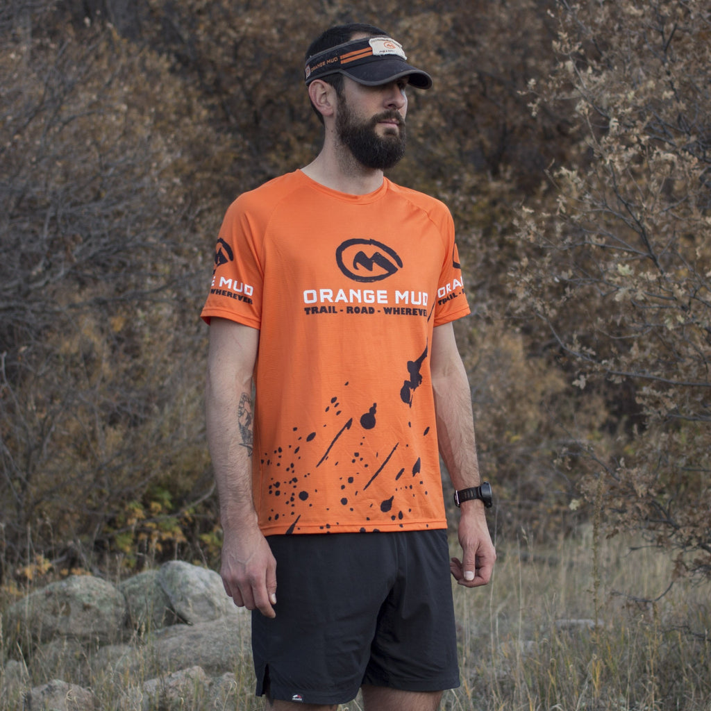 Orange Stretchy Running Shirt - Accessories