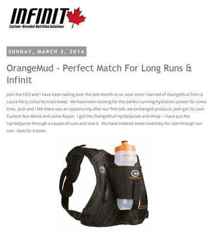Orange Mud & Infinit Nutrition A Perfect Match