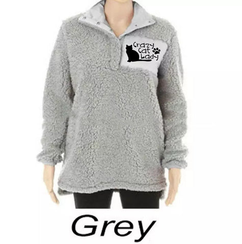 Crazy Cat Lady Plus Size Winter Women's Sweater