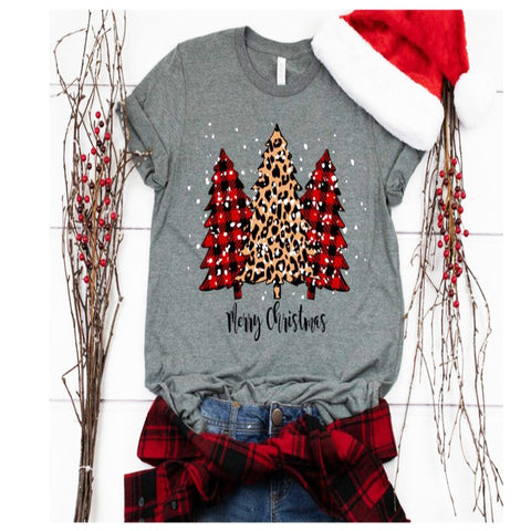 Christmas Printed Round Neck Women Shirt