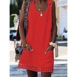 Plus Size Women Crew Neck Casual Dresses
