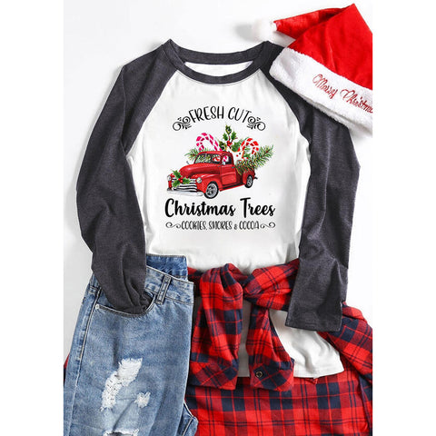 Christmas Trees Holiday Women's Autumn Sweatshirts
