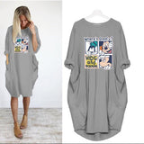 Fashion Autumn Loose Casual Plus Size Women's Dress