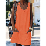Crew Neck Women Dresses Shift Dresses