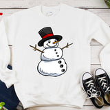 Snowman Christmas Plus Size Long Sleeve Women's Autumn Sweatshirts