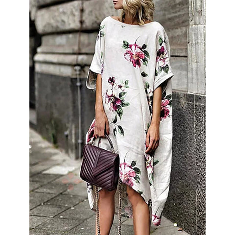 Women Half Sleeve Printed Floral Floral Dress