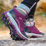 Women Fashion Breathable Waterproof Outdoor Trekking Sneakers