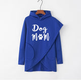 Dog Mom Irregular Autumn Winter Long Sleeve Women Hoodie