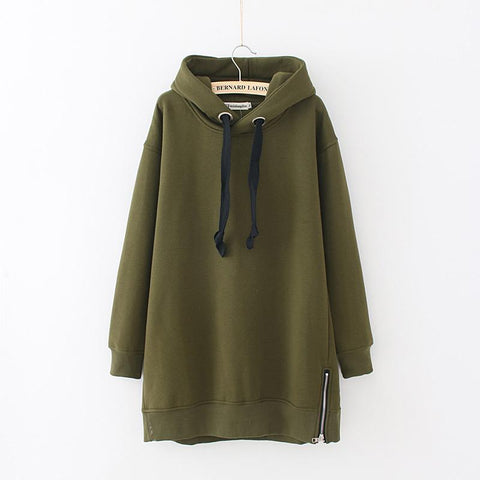 Autumn Drawstring Loose Plus Size Long Sleeve Women's Hoodie