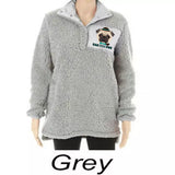 Bah Hum Pug Plus Size Winter Women's Sweater