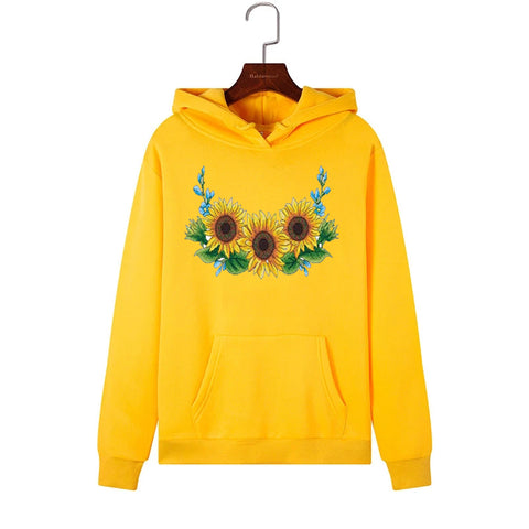 Sunflower Casual Autumn Loose Letter Long Sleeve Hoodie
