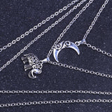 Moon&Eleghant Alloy Necklaces