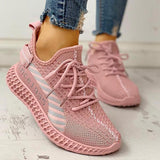 Women Lace-Up Breathable Casual Sneakers