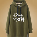 Dog Mom Autumn Long Sleeve Women's Hoodie